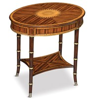 Rosewood Oval Side Table