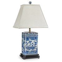 Blue and White Canton Lamp