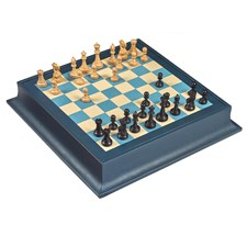 Marine Leather Chessboard
