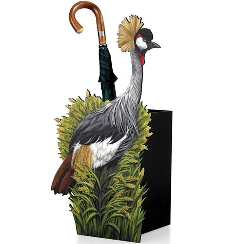 Crested Crane Umbrella Stand
