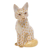 Herend Young Sitting Fox Figurines