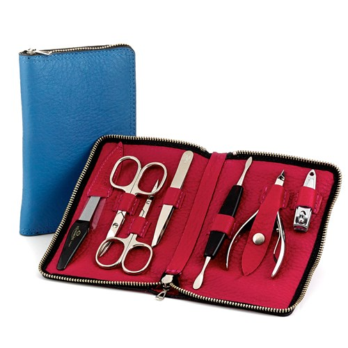 Calfskin Manicure Set (Assorted Colors)