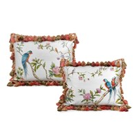 Silk Parrot Pillows