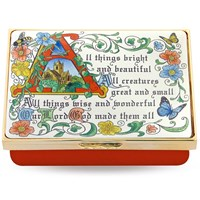 Halcyon Days All Things Bright and Beautiful Enamel Box