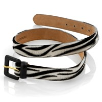 Ladies' Faux Zebra Belt (Assorted Sizes)