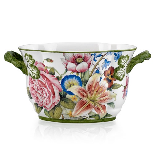 Bouquets with Lily Ceramic Planter, Small