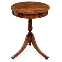 Drum Table Mahogany with Rose Banding