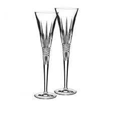 Waterford Lismore Diamond Toasting Flutes, Set of 2