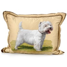Handpainted Dog Pillows
