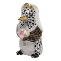 Herend Penguin Bride