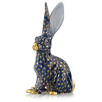 Herend Jack Rabbit, Cobalt & Gold