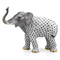Herend Elephant Luck Figurine, Gray