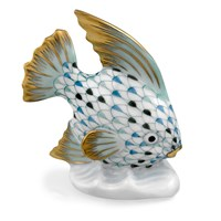 Herend Fish Table Ornament, Tri-Color Aquatic