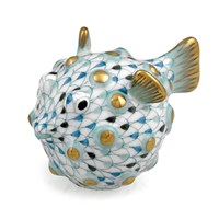 Herend Puffer Fish, Tri-Color Aquatic