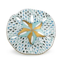 Herend Sand Dollar, Tri-Color Aquatic