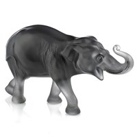 Lalique Sumatran Elephant, Gray