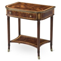 Mahogany & Satinwood Bedside Table