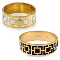 Halcyon Days Maya Hinged Bangles