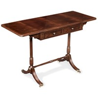 Mahogany Drop-Leaf Sofa Table