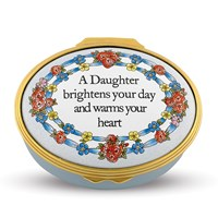 Halcyon Days A Daughter Brightens Your Day Enamel Box