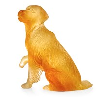 Daum Golden Retriever Figurine