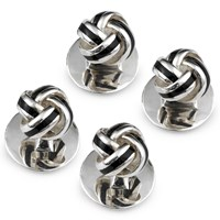 Sterling Silver Knot Enamel Studs, Set of 4