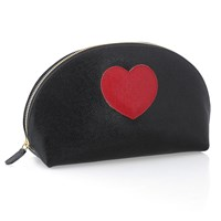 Italian Leather Heart Pouch