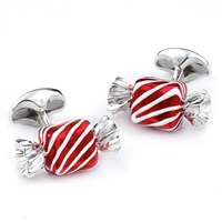 Sterling Silver Square Candy Cufflinks