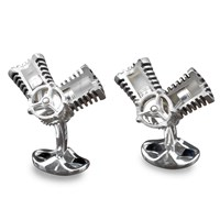 Sterling Silver Moving Piston Cufflinks