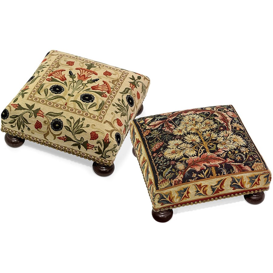 English Tapestry Footstools Hover To Zoom