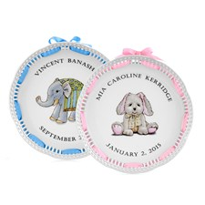 Openwork Personalized Baby Plate