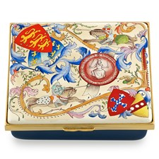 Halcyon Days Magna Carta Enamel Box, Blue Base