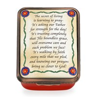 "Halcyon Days ""The Secret of Living"" Enamel Box"