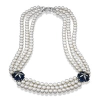 London Blue Topaz & Pearl Necklace