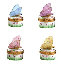 Limoges Butterfly Pill Boxes