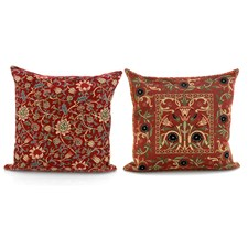 Red Tapestry Pillows