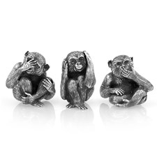 Buccellati Sterling Silver Wise Monkeys