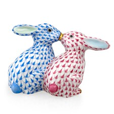 Herend Kissing Bunnies