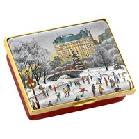 Halcyon Days Christmas in Central Park Enamel Box