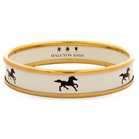 Halcyon Days Black Stallion Push On Bangle
