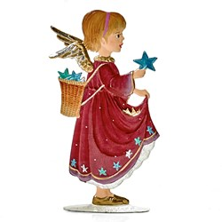 Pewter Angel with Stars