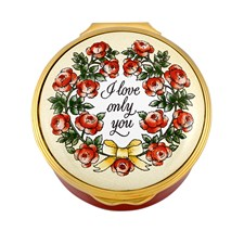 "Halcyon Days ""I Love Only You"" Enamel Box"