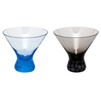 "Moser ""Pebbles"" Stemless Martini Glasses"