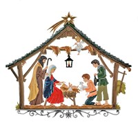 Pewter Nativity Scene Hanging