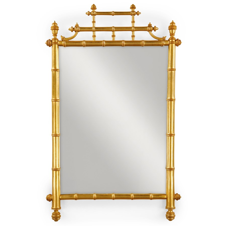 Gold Leaf Horner Bamboo Mirror Mirrors Mirrors Home