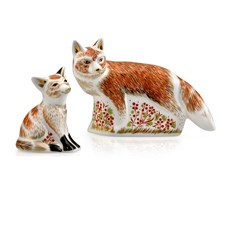 Royal Crown Derby Fox Paperweights