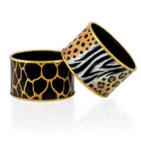 Halcyon Days Wide Animal Print Bangles