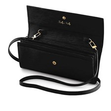 Wave Leather Clutch Bag