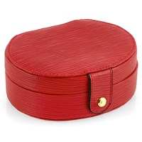 Wave Leather Oval Jewelry Box