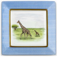 Mother & Baby Animal Square Rim Plates